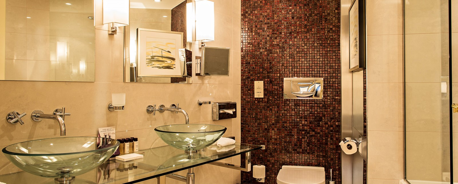 Corinthia Prague executive city view suite bathroom