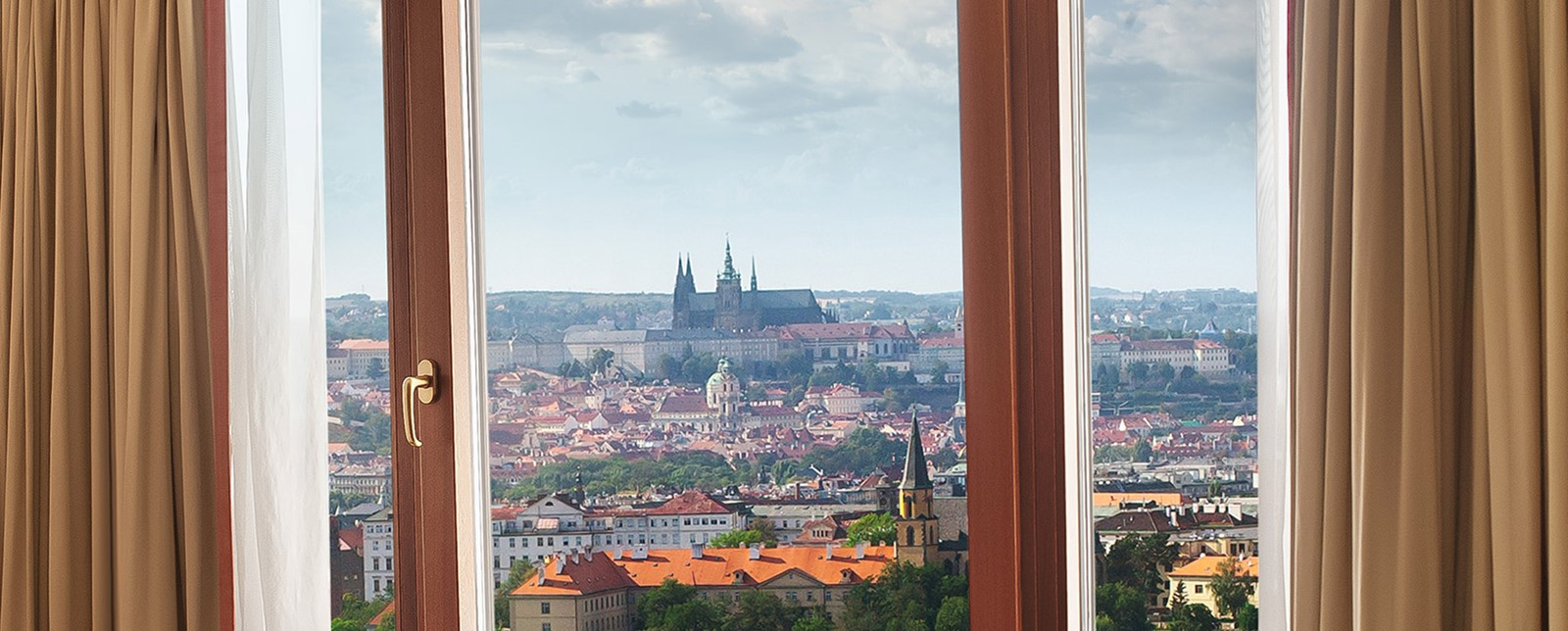 Corinthia Prague view
